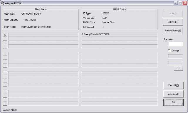 Chipsbank CBM2092 (CBM209x) UMPTool 2.0.0