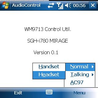 Samsung SGH-i780 Control Util