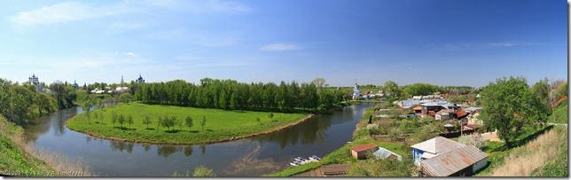 Панорама-вид на Ильинский луг