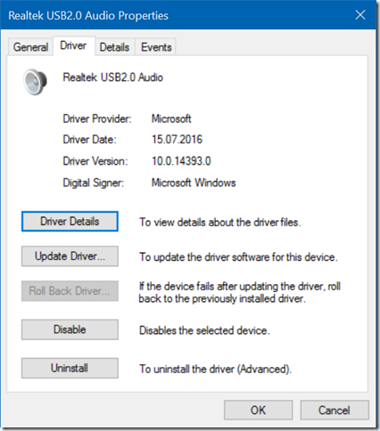 Realtek USB2.0 Audio good driver